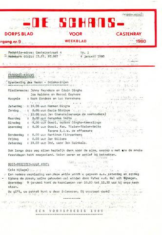 Castenrays dorpsblad De Schans 1980