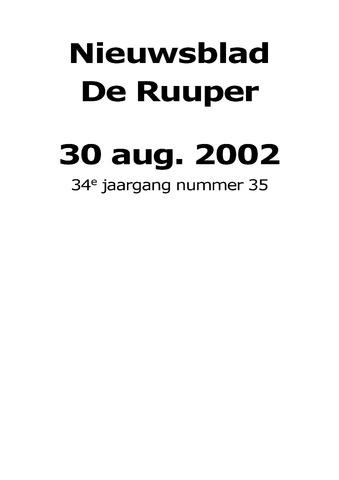 Dorpsblad Leunen-Veulen-Heide 2002-08-30
