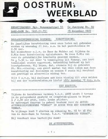 Oostrum's Weekblad 1977-12-15