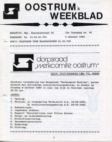 Oostrum's Weekblad 1984-10-04