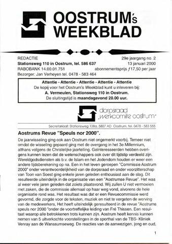 Oostrum's Weekblad 2000-01-13