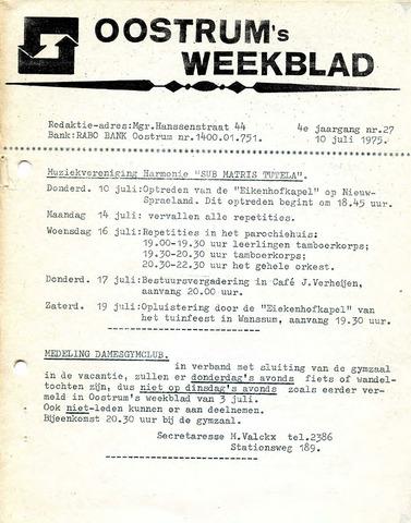 Oostrum's Weekblad 1975-07-10