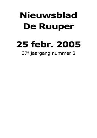 Dorpsblad Leunen-Veulen-Heide 2005-02-25
