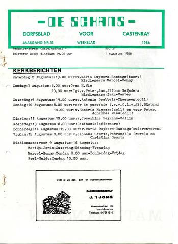 Castenrays dorpsblad De Schans 1986-08-01