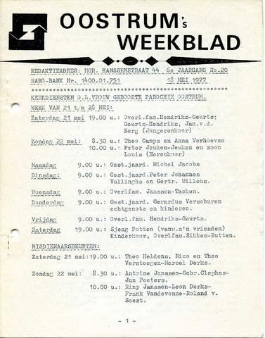 Oostrum's Weekblad 1977-05-18