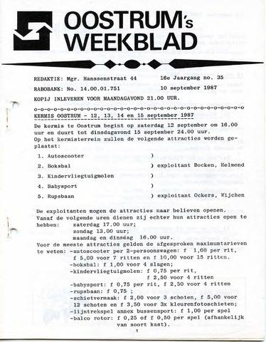 Oostrum's Weekblad 1987-09-10