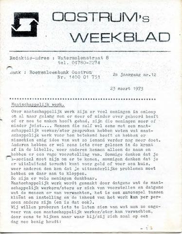 Oostrum's Weekblad 1973-03-23
