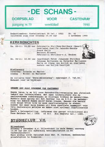 Castenrays dorpsblad De Schans 1990-11-02
