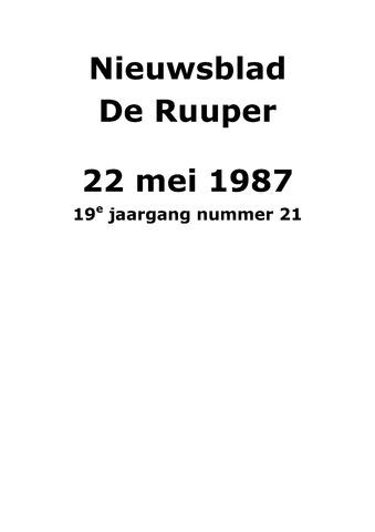 Dorpsblad Leunen-Veulen-Heide 1987-05-22