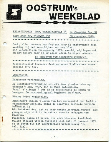 Oostrum's Weekblad 1976-12-30