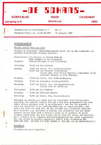 Castenrays dorpsblad De Schans 1980-01-18