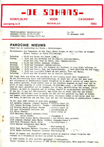 Castenrays dorpsblad De Schans 1980-12-31