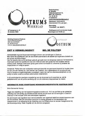 Oostrum's Weekblad 2005-10-20
