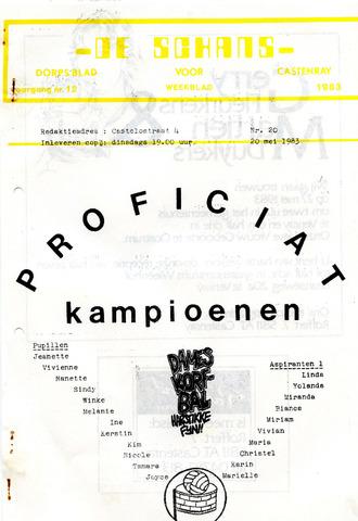Castenrays dorpsblad De Schans 1983-05-20