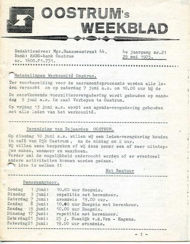 Oostrum's Weekblad 1975-05-29
