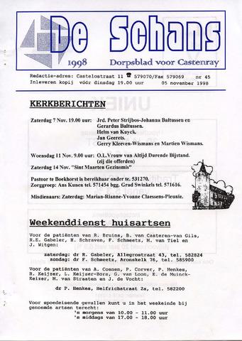 Castenrays dorpsblad De Schans 1998-11-05