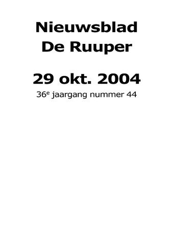 Dorpsblad Leunen-Veulen-Heide 2004-10-29