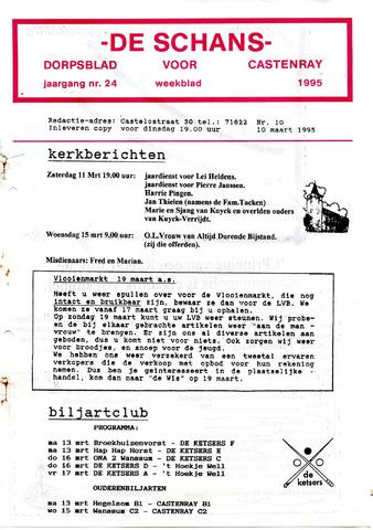 Castenrays dorpsblad De Schans 1995-03-10