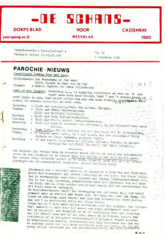 Castenrays dorpsblad De Schans 1980-08-08