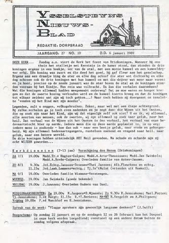 Ysselsteyns Nieuwsblad 1989-01-06