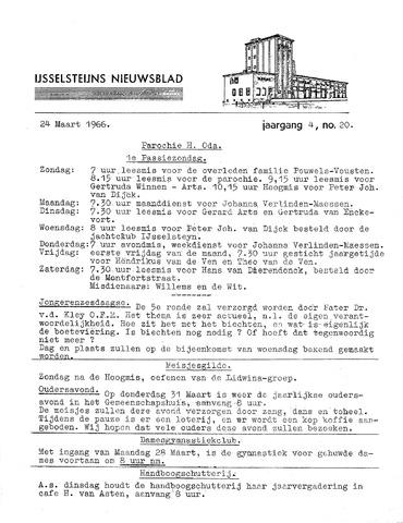 Ysselsteyns Nieuwsblad 1966-03-24