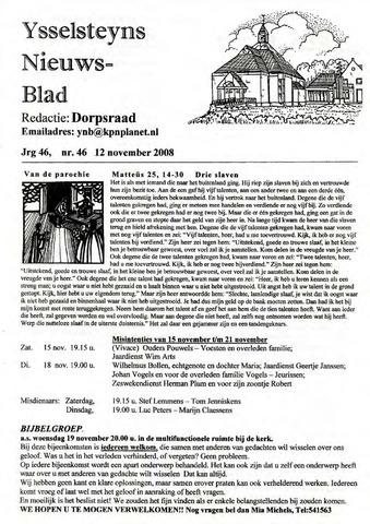 Ysselsteyns Nieuwsblad 2008-11-12