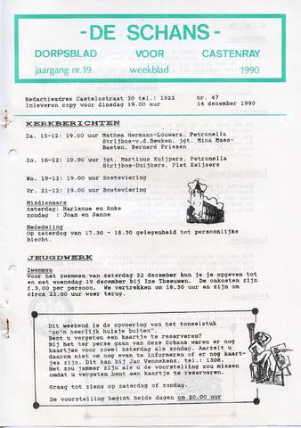 Castenrays dorpsblad De Schans 1990-12-14
