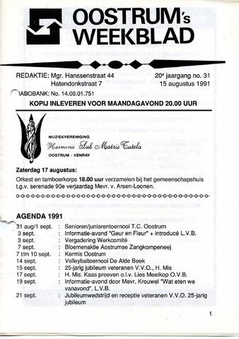 Oostrum's Weekblad 1991-08-15