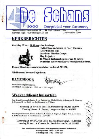 Castenrays dorpsblad De Schans 2000-11-23