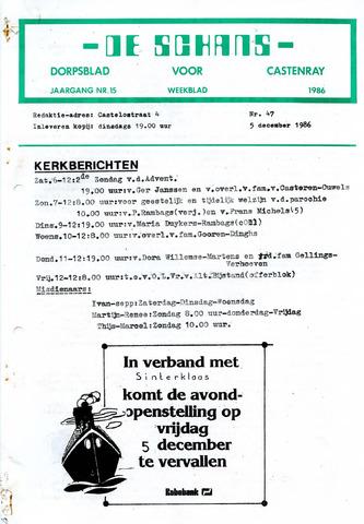 Castenrays dorpsblad De Schans 1986-12-05