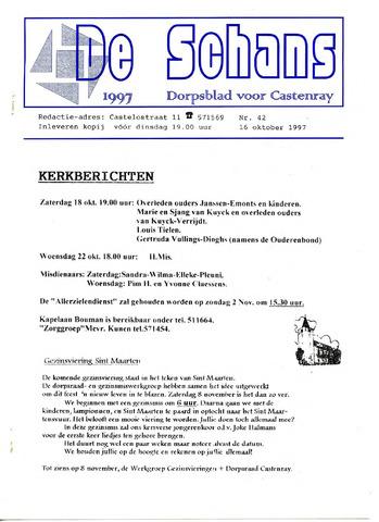 Castenrays dorpsblad De Schans 1997-10-16