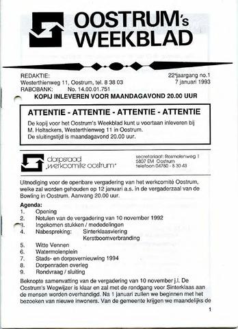 Oostrum's Weekblad 1993