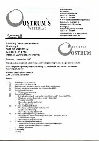 Oostrum's Weekblad 2007-12-06