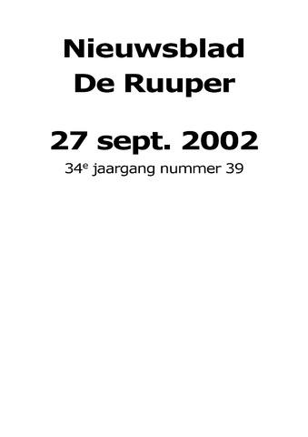 Dorpsblad Leunen-Veulen-Heide 2002-09-27