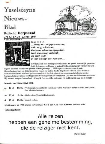 Ysselsteyns Nieuwsblad 2004-07-23