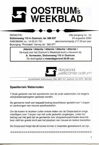 Oostrum's Weekblad 2000-08-24