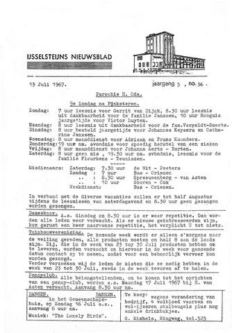 Ysselsteyns Nieuwsblad 1967-07-13