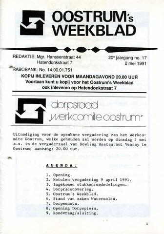 Oostrum's Weekblad 1991-05-02