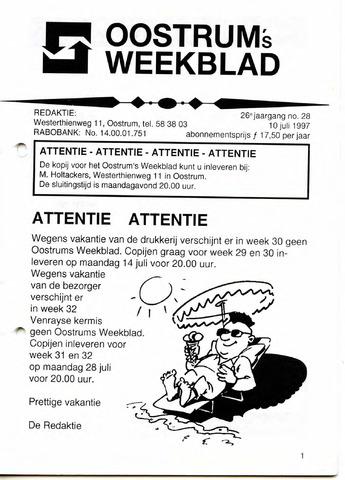 Oostrum's Weekblad 1997-07-10