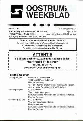 Oostrum's Weekblad 2000-06-15