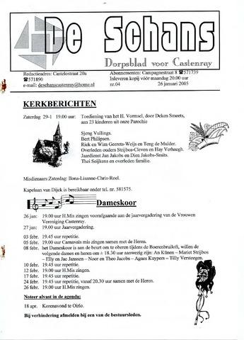 Castenrays dorpsblad De Schans 2005-01-26