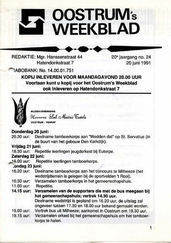 Oostrum's Weekblad 1991-06-20