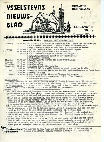 Ysselsteyns Nieuwsblad 1983-11-18