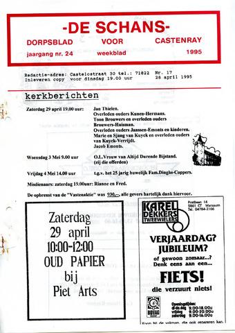 Castenrays dorpsblad De Schans 1995-04-28