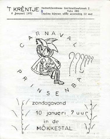 Oirlo's dorpsblad 't Krèntje 1971