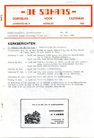Castenrays dorpsblad De Schans 1985-07-12
