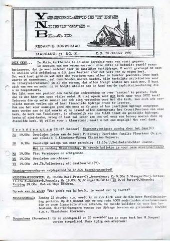 Ysselsteyns Nieuwsblad 1989-10-20