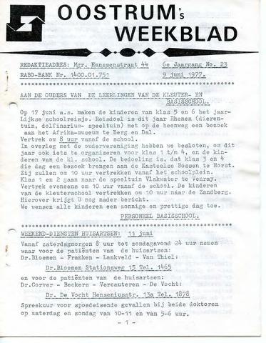 Oostrum's Weekblad 1977-06-09