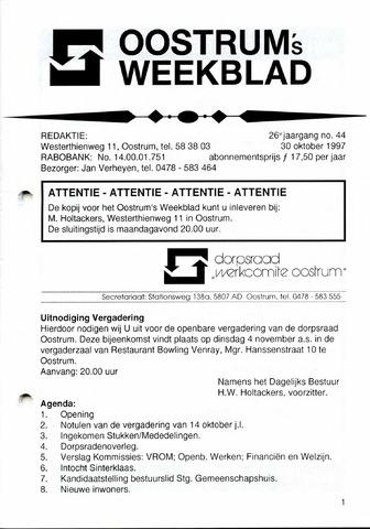 Oostrum's Weekblad 1997-10-30