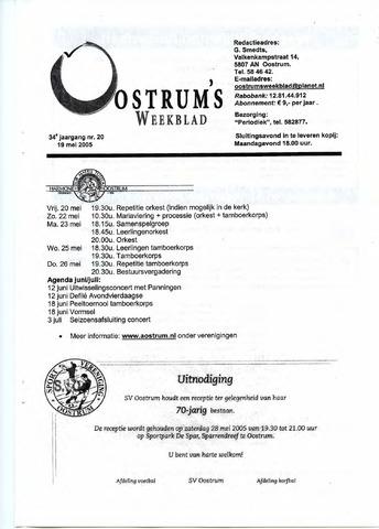 Oostrum's Weekblad 2005-05-19
